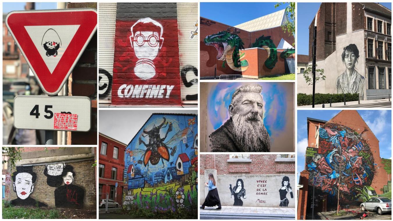 Le centre-ville de Roubaix regorge d'œuvres réalisées ces dernières années, notamment pendant le festival Expériences urbaines.