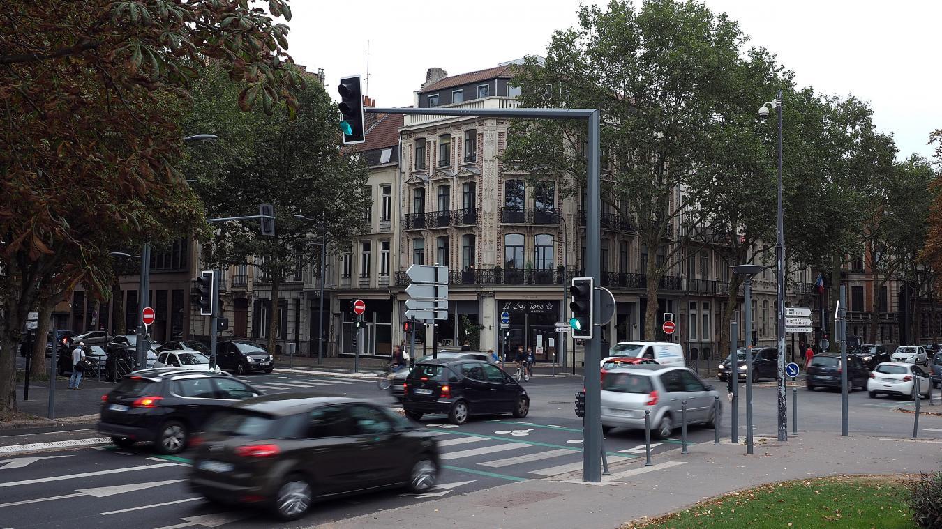La victime a été frappée sur un parking du boulevard de la Liberté, côté Vauban. Photo archives Christophe Lefebvre