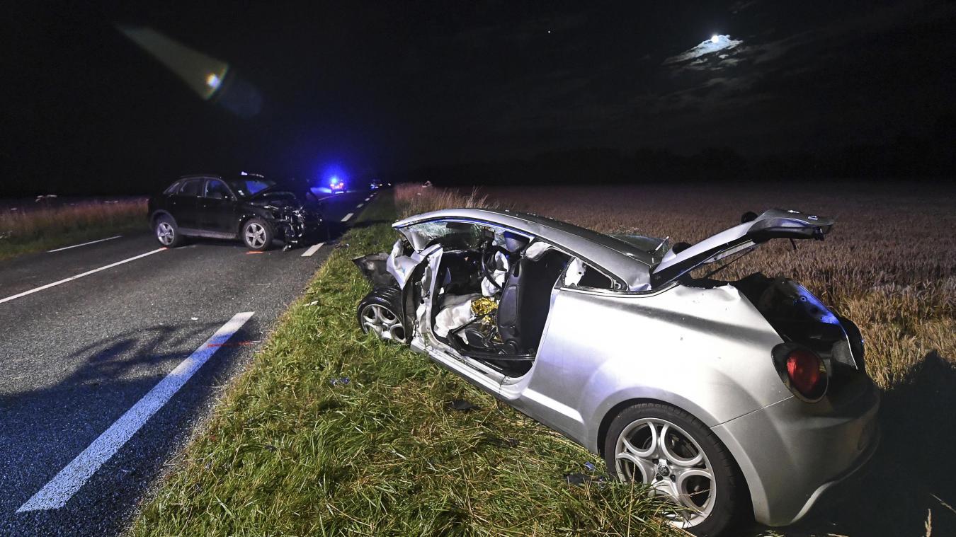 Terrible collision à Carly: trois personnes, dont deux enfants, entre la vie et mort