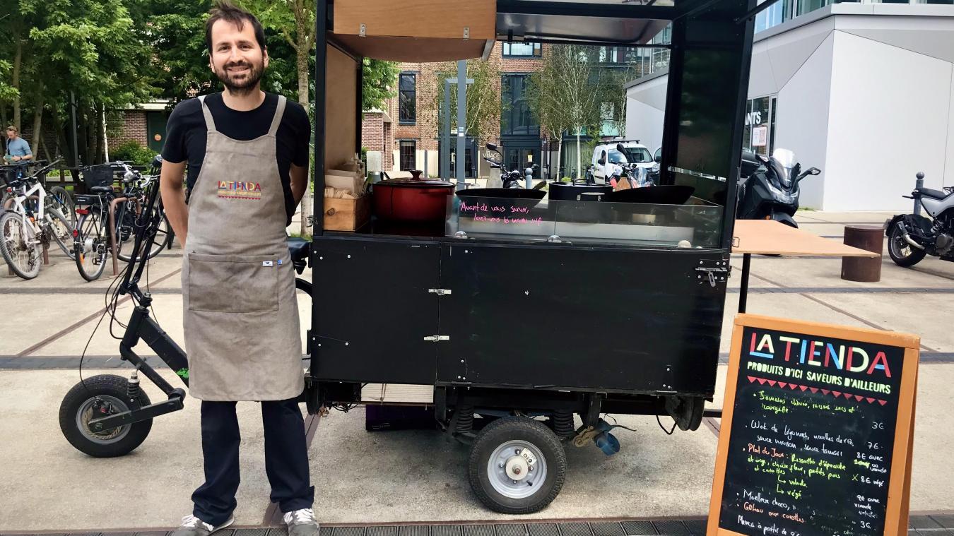 Cinq ans après ses débuts, la Tienda de Juan Ortiz se présente comme le plus ancien food bike de Lille.