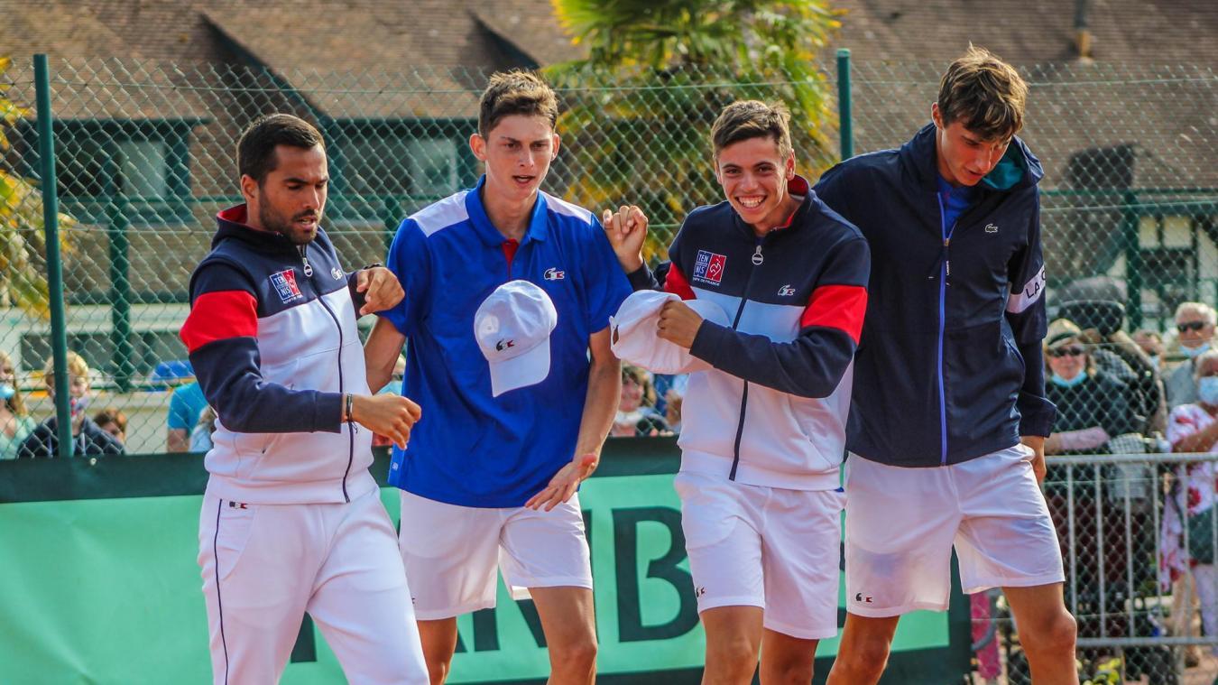 Tennis: les Bleus en finale de la Junior Davis Cup au Touquet, qui sont les trois pépites?