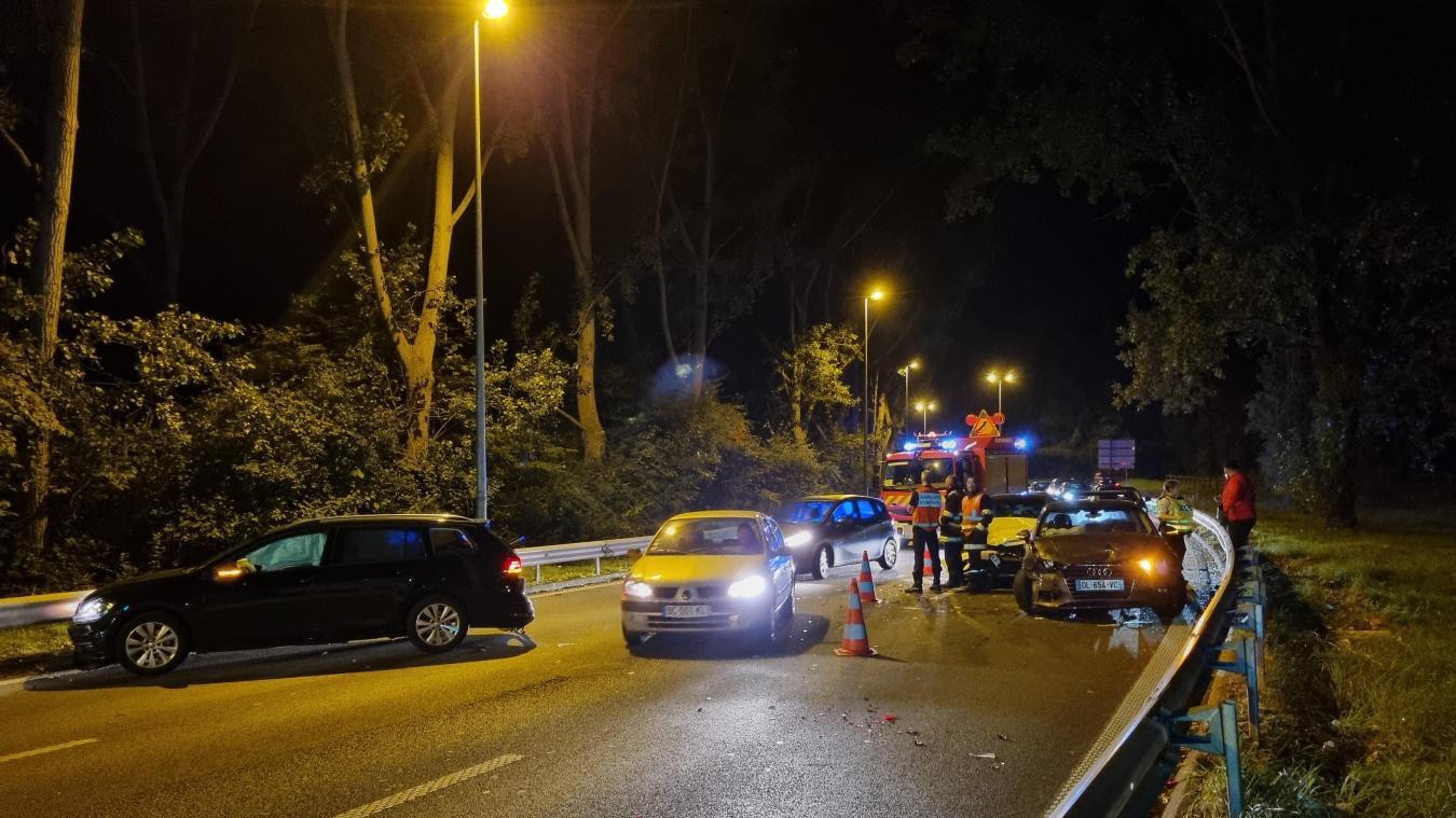 Lille: quatre voitures impliquées dans un accident sans gravité ce vendredi soir
