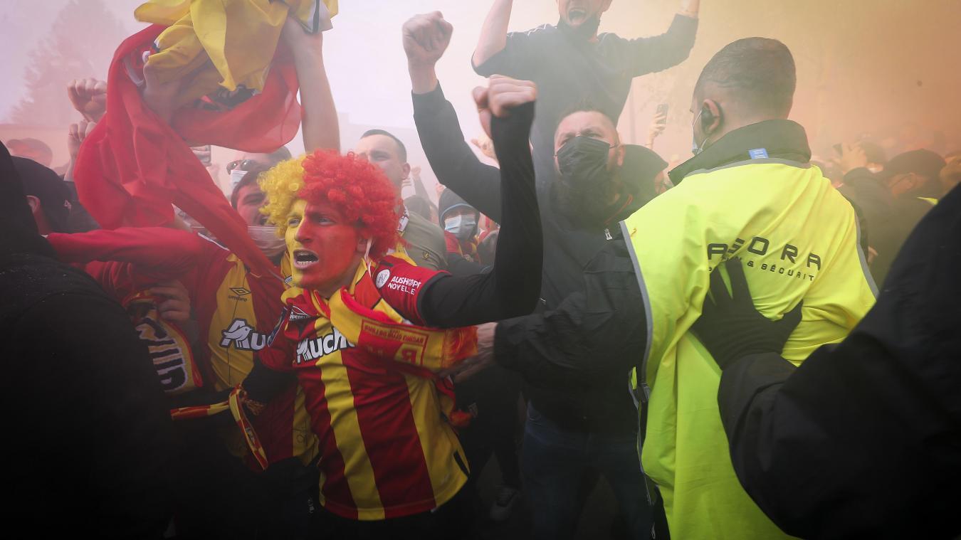 Pour ce derby Lens-Lille, les supporters seront particulièrement encadrés. Photo archives Séverine Courbe