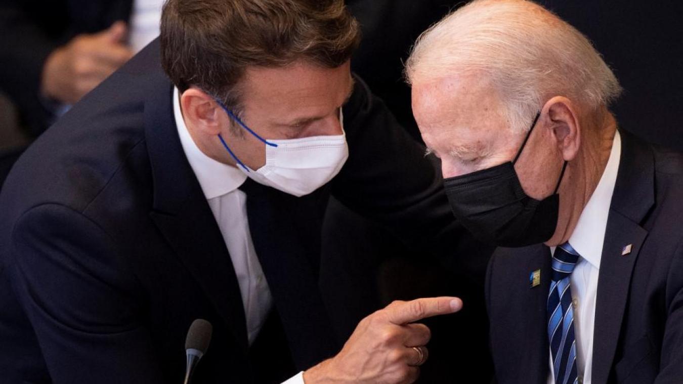Crise des sous-marins: Emmanuel Macron et Joe Biden promettent de restaurer « la confiance »