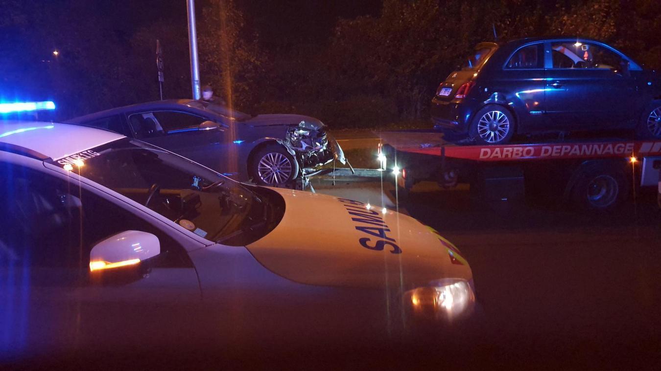 Wattrelos: un homme de 22 ans légèrement blessé dans un accident entre deux véhicules