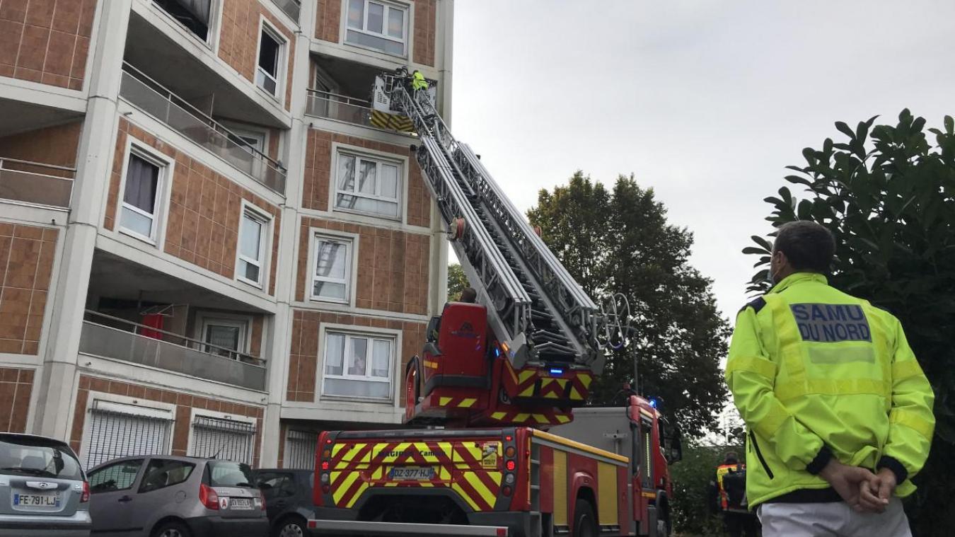 Feu d'appartement à Lille Sud : intoxication et brûlures pour l'occupant