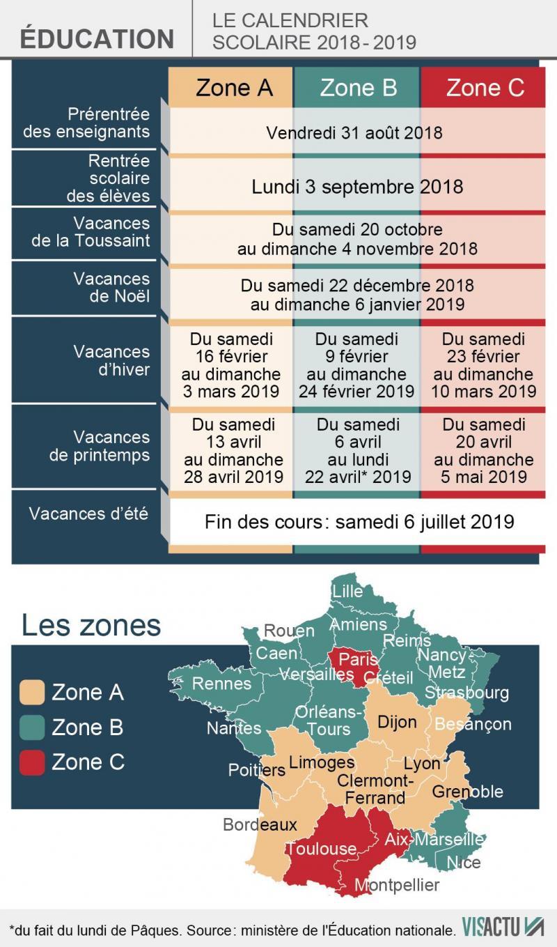 Vacances Le Calendrier Des Conges Scolaires 2018 2019 Est Deja