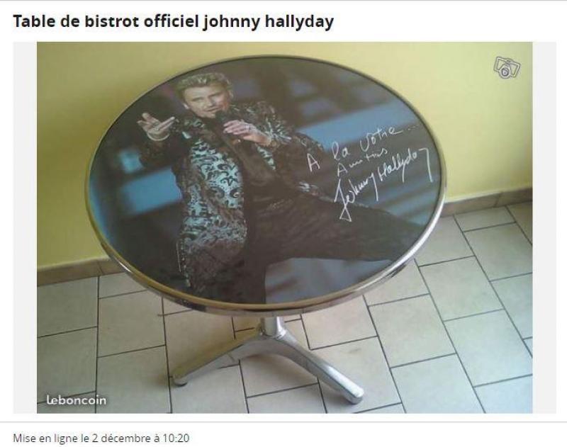 Mort de Johnny Hallyday - Sur Le Bon Coin, les objets les plus ...