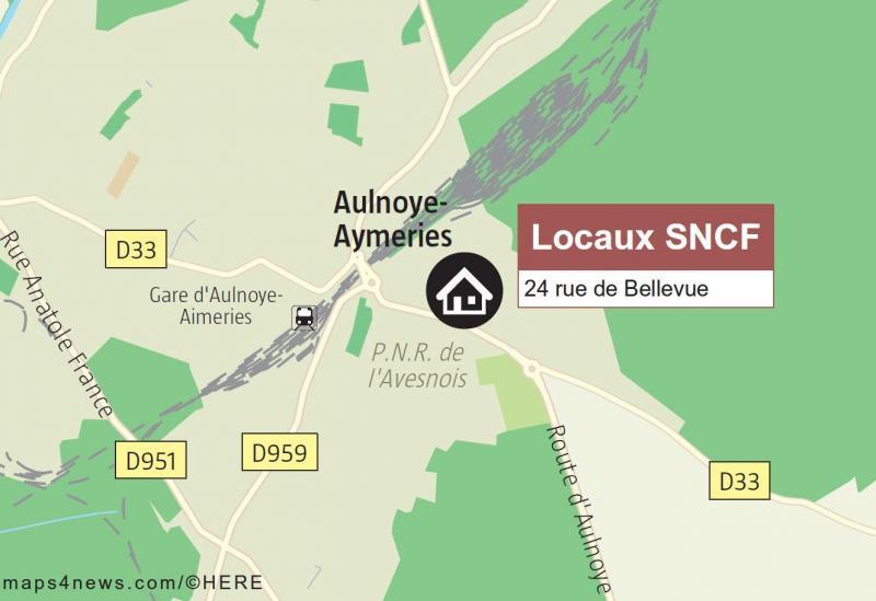 Aulnoye Aymeries Des Locaux Sncf Situés Rue Bellevue En