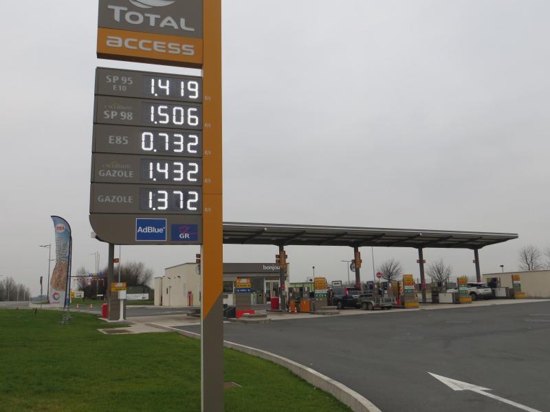 A la station Total Access de Feignies, les prix ont augmenté, comme partout  ailleurs 85cf01b7720b
