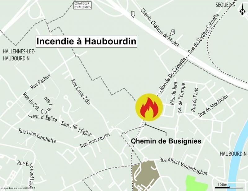 Incendie Haubourdin
