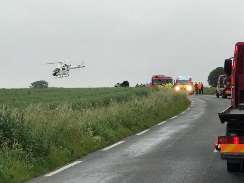 L'un des blessés à été transporté vers l'hôpital de Lille par hélicoptère.