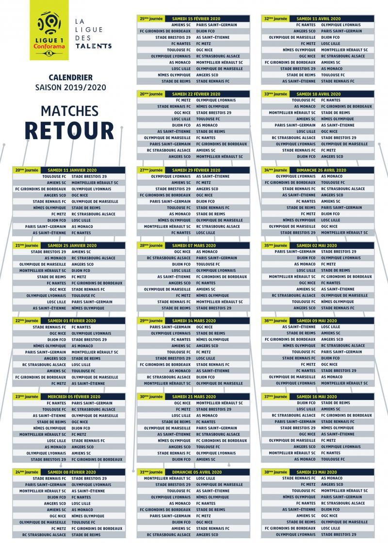 Calendrier Ligue 1 2019 Et 2021 Calendrier de Ligue 1 Le LOSC débute à la maison face à Nantes, un