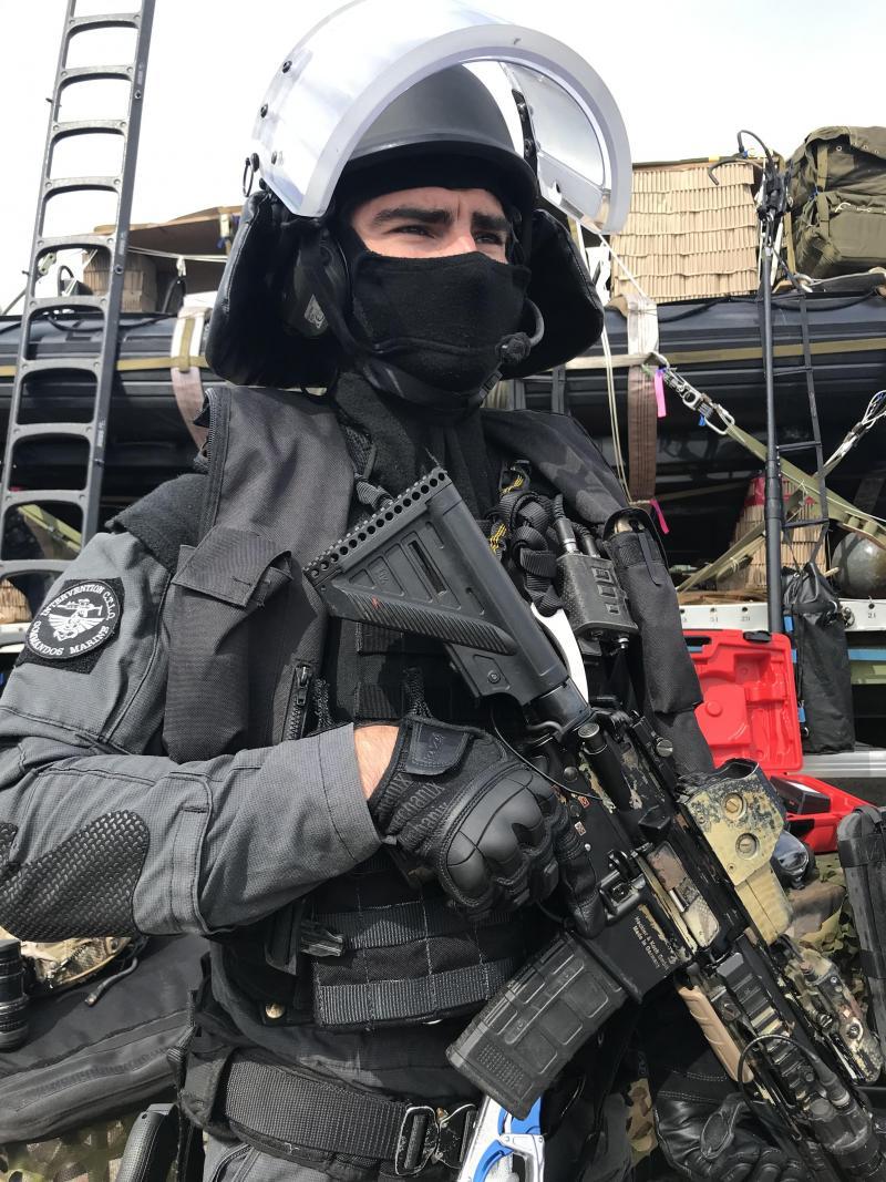 Un opérateur CTLO (contre-terrorisme et libération d'otages) du commando Jaubert de la marine nationale. PHOTO « LA VOIX »