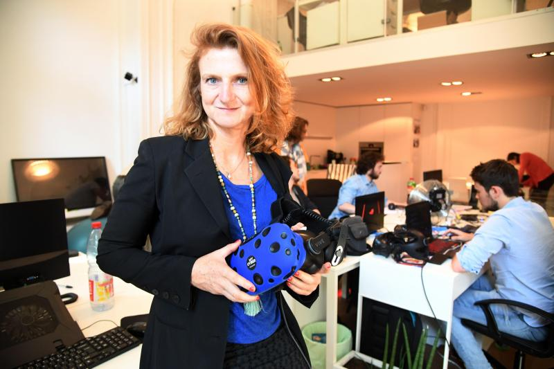 Caroll Duthérage, directrice innovation de My Cyber Royaume. PHOTO STEPHANE MORTAGNE