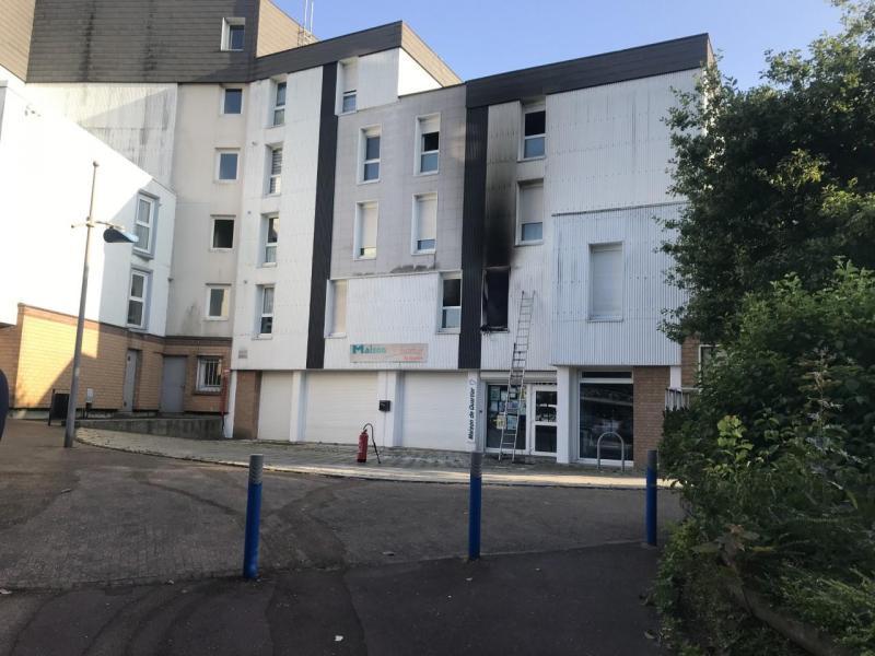 Incendie au-dessus de la maison de quartier de Saint-Saulve