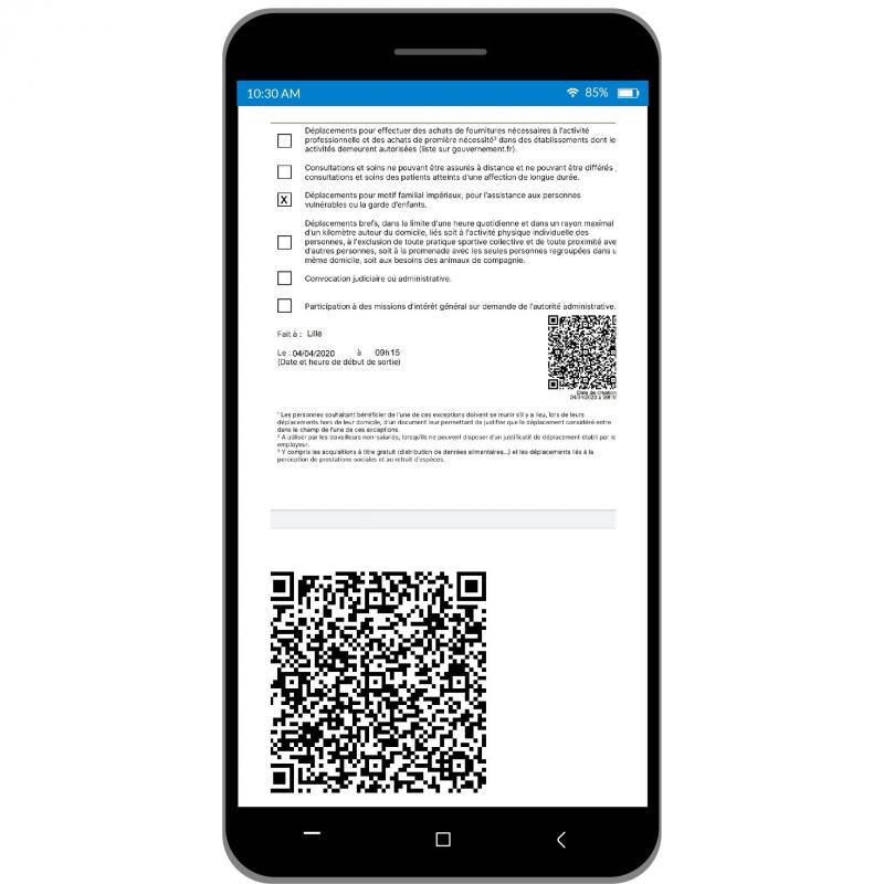Confinement On A Teste L Attestation De Deplacement Sur Smartphone