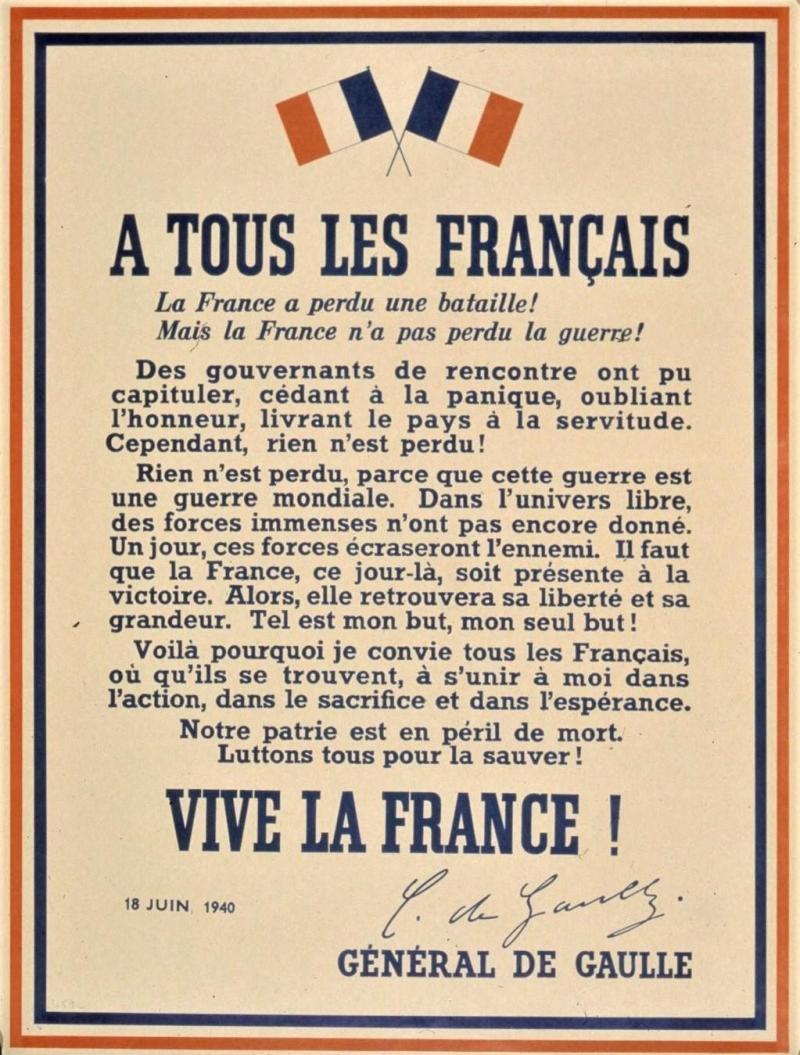 80 ans de l'Appel du 18 juin: « La France n'est pas seule ! »